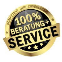 colored isolated button 100% BERATUNG + SERVICE
